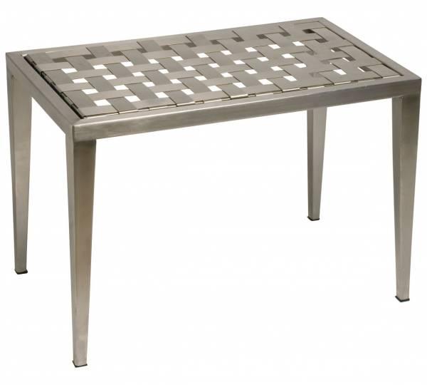 tavolini in acciaio inox